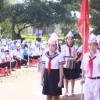 Học sinh trường Tiểu học Lê Đình Chinh trong ngày khai giảng năm học mới